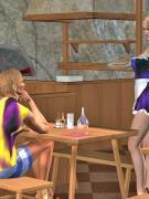 3d futanari waitress